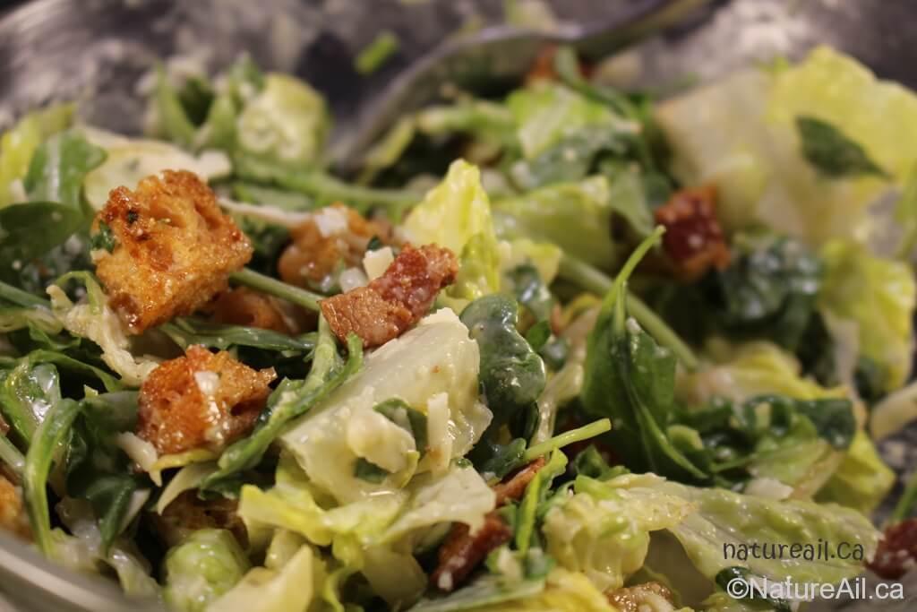 Recette: Vinaigrette et Salade Cesar pour Amateurs d'Ail